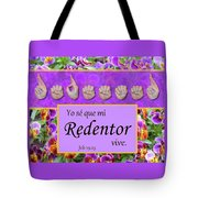 My Redeemer Lives Spanish Tote Bag