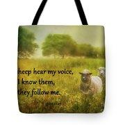 My Sheep Hear My Voice Tote Bag