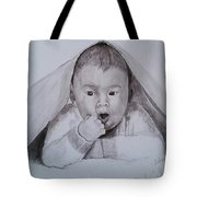 A Little Dude In The Blanket  Tote Bag