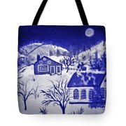 My Take On Grandma Moses Art Tote Bag