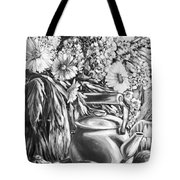 My Tea Kettle Black And White Tote Bag
