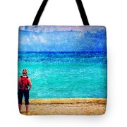 My Thoughts Are Like Sea Waves Tote Bag