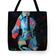 My Violin Whispers Music In The Night Tote Bag by Nikki Marie Smith