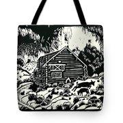My Wyoming Cabin In Winter Tote Bag