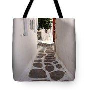 Mykonos Alley Tote Bag