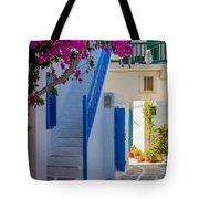 Mykonos Staircase Tote Bag