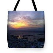 Mykonos Sunset Greece Tote Bag
