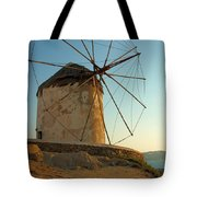 Mykonos Windmill  Tote Bag