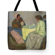Myron G. Barlow 1873 - 1937 Dutch Women Drinking Coffee Tote Bag