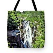 Myrtle Falls And Mount Rainier Tote Bag