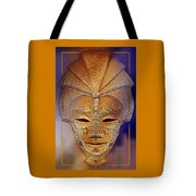 Mysterious Ancient  Asian Mask Tote Bag