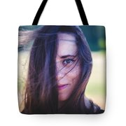 Mysterious Look Tote Bag