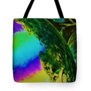 Mysterious Planet Beside Leaves Tote Bag