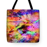 Mysterious Sunset Debris Tote Bag
