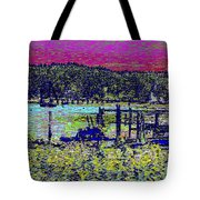 Mystery Bay At Sunset Tote Bag