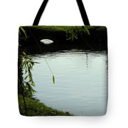 Mystery  Pond In The Green Tote Bag