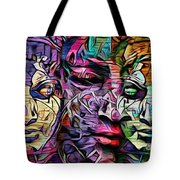 Mystic City Faces - Version B  Tote Bag