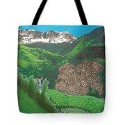 Mystic Falls On Lake Fork San Miguel River Tote Bag