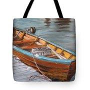 Mystic Fishing Boat Tote Bag