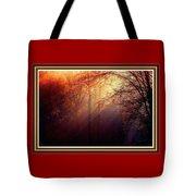 Mystic Forest At Dawn L B With Alternative Decorative Ornate Printed Frame Tote Bag