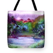 Mystic Lake Tote Bag