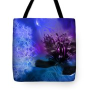 Mystic Poppy Blue Purple  Tote Bag