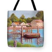 Mystic River View Tote Bag