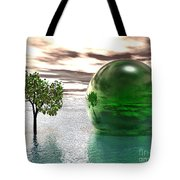 Mystic Surreal In Green Tote Bag