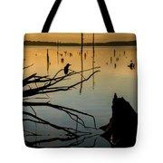 Mystical Sunrise On The Lake Tote Bag