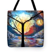 Mystical Twilight Forest Tote Bag