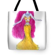 Mzia Meisouri. Beauty Girl From Space Tote Bag
