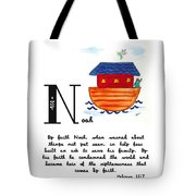 N Is For Noah Tote Bag
