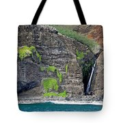 Na Pali Waterfall Tote Bag
