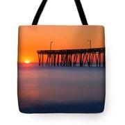 Nags Head Fishing Pier Sunrise Panorama Tote Bag