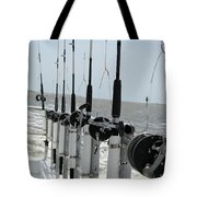 Nags Head Nc Fishing Poles Tote Bag
