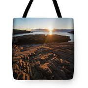 Nahant Ma Castle Rock Carved Rock Tote Bag