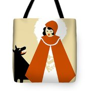 Naive Art Deco Little Red Riding Hood Tote Bag