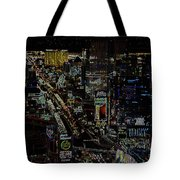 Naked Moon Over The Strip Tote Bag