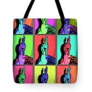 Naked Neck Rooster Warhol Style Tote Bag