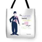 Naked Soul Quote Tote Bag
