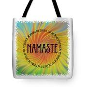 Namaste Divine And Honor Swirl Tote Bag