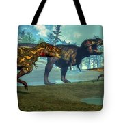 Nanotyrannus Hunting A Small Tote Bag