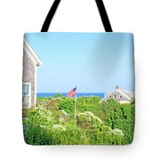 Nantucket Cottages Overlooking The Sea Tote Bag