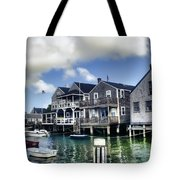 Nantucket Harbor In Summer Tote Bag by Tammy Wetzel