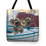 Naoussa Boat Paros Island Greece  Tote Bag