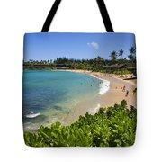 Napili Bay With Visitors Tote Bag