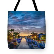 Naples Canal Christmas 6 Tote Bag