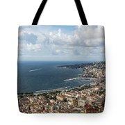 Naples Italy Aerial Perspective - Coastal Beauty Of Mergellina, Posillipo And Marechiaro Tote Bag