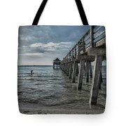 Naples Pier And Beach Fun Tote Bag