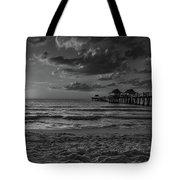 Naples Pier Bw  Tote Bag